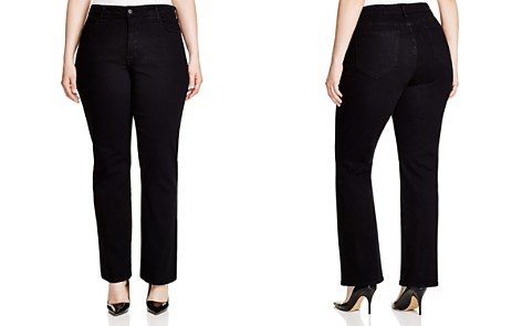 NYDJ Plus Barbara Bootcut Jeans in Black - Bloomingdale's_2